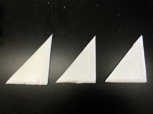 このように切ります。3枚か4枚がいいと思います。